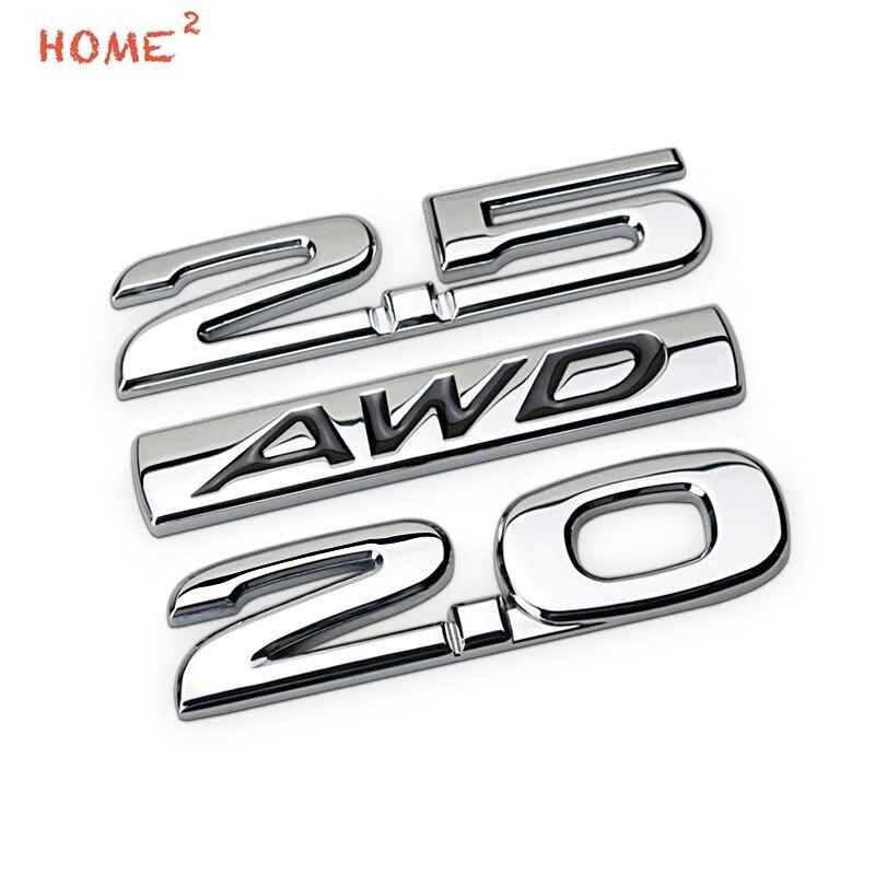 Métal Autocollant De Voiture pour Mazda CX4 CX5 CX7 CX9 Buick Regal Volvo 2.0 2.5 AWD Logo Auto Corps Decal Lettre Arrière Emblème Tronc Badge