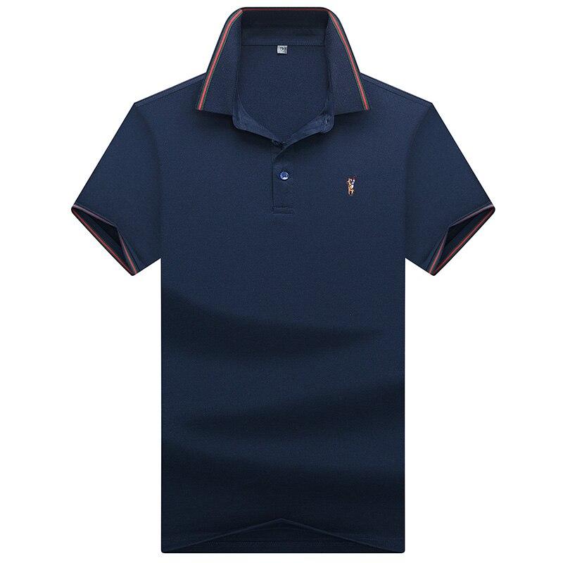 Polos de qualite superieure hauts et chemises Hommes Daffaires hommes marques polos 3D broderie Turn-down col hommes polos