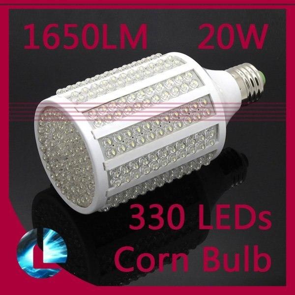 2pcs/lot Free shipping 20W 330 LED 7W-108 leds Corn light bulb E27 led Daylight lamp warm/cool white light  220V/110V 360 degree