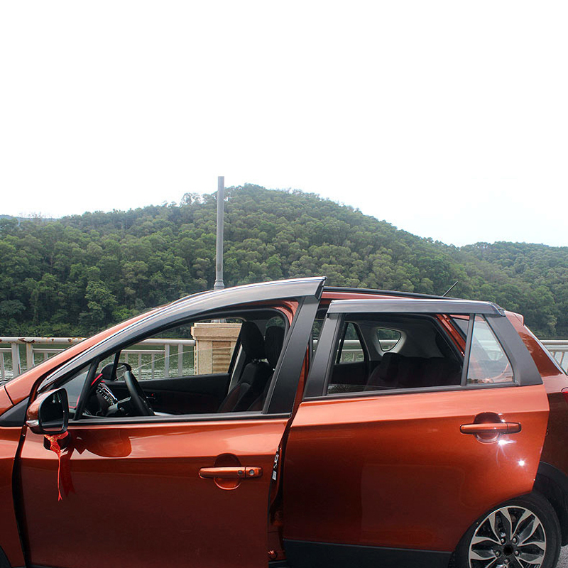 4PCS Exterior Plastic Side Window Deflector Trim For Suzuki SX4 S-Cross/Suzuki SX4 2014-2018