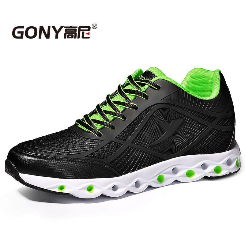 2017 Newest Casual Elevator Shoes Increase Height 6cm Breathable Elevated Shoes for Fashion Boys Daily Wear Color Green/Blue