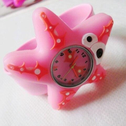 HOT Sale watches 3D Kid Cartoon watches Starfish children sports High quality slap wristwatch Multan