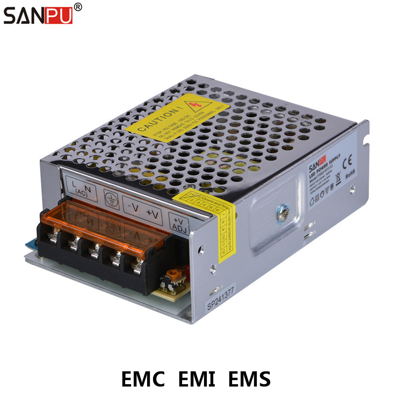 SANPU EMC EMI EMS SMPS Switching Power Supply 12V 5A 60W LED Driver 12VDC Voltage 110V 220V AC to DC Transformer Converter 12 V