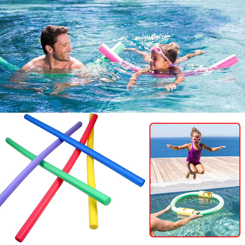 Swimming stick 1.5m EPE Foam Stick Swimming Pool Water Floating Dive Educational Kids Children Girls Random Bent Noodles Shape