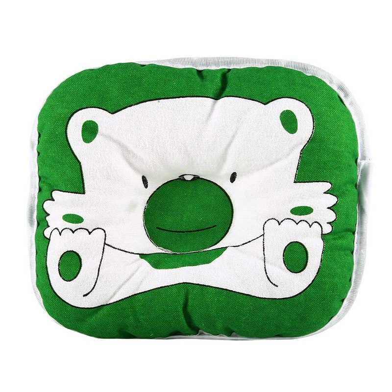 Прекрасный милый медведь мультфильм шаблон подушка для новорожденных Поддержка Подушка Pad Предотвращение плоской головкой хлопок подушка для младенца
