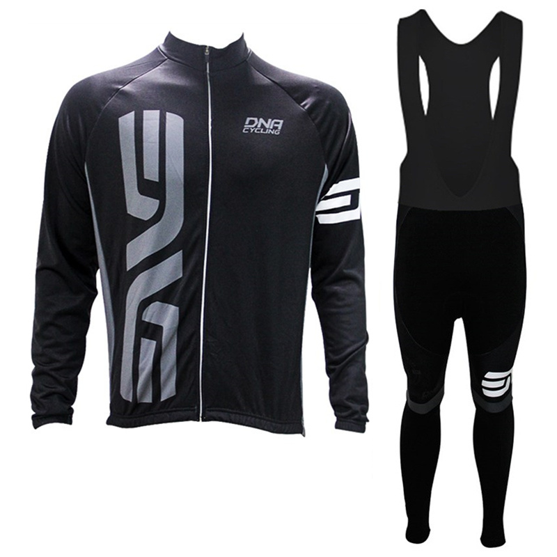 Autumn/Spring Long Sleeve Bike Jersey Maillot Ciclismo breathable Polyester Cycling Jerseys + trousers Kits Cycling equipment