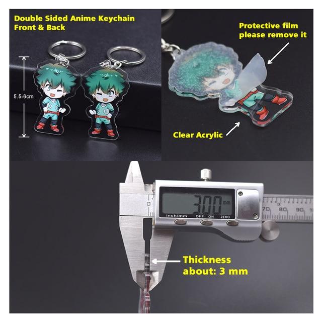 Porte-clés belle et la bête mignon Double face acrylique porte-clés pendentif Anime accessoires dessin animé porte-clés DBS1P