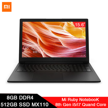 2019 Xiaomi Mi Ruby 15.6 inch Laptop MX110 8th Intel Core I5/I7 Quad Core 8GB DD