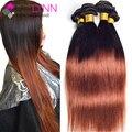 7A Tissage Peruvian Virgin Hair Straight 3bundles Soft Qmbre Virgin Hair Ombre Hair Extensions Cheap Straight Human Hair Bundles