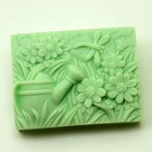 Cube Block Soap Making Silicone Mold Rectangle Flower Dragonfly molds