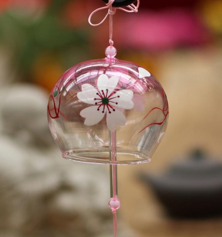 Wedding Decoration Japan: Japan Sakura Glass Bells With Blessing Paper Summer Style
