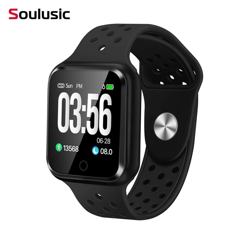 Soulusic Relógio IP67 Freqüência Cardíaca À Prova D' Água de Pressão Arterial Do Bluetooth Relógios Inteligentes Smartwatch para Android iPhone IWO PK 8 F8 S226