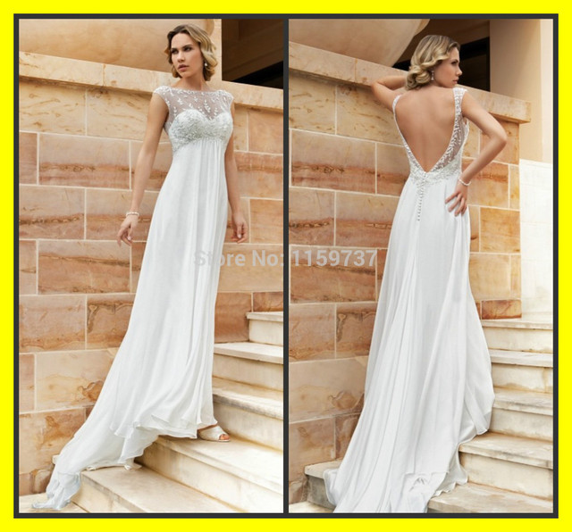 e2158b24d5 Linen Wedding Dress Plus Size Casual Dresses Cheap Beach Sheath  Floor-Length Sweep Brush Train Beading High Cap S 2015 Discount