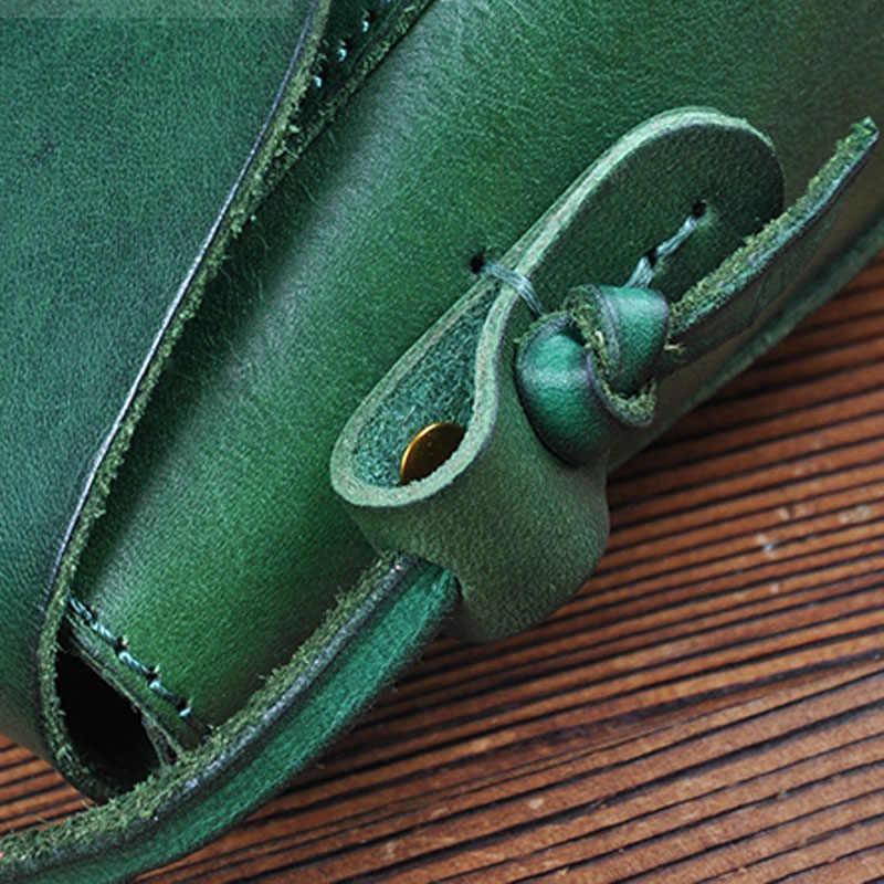 Desain Asli Musim Panas Tas Messenger Tas Sastra dan Seni Retro Lapisan Pertama Kulit Sapi Kulit Mini Tas Kurir
