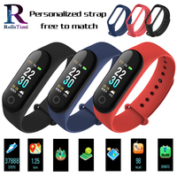 RollsTimi Heart Rate Monitor M30 Smart Bracelet Colorful Silicone Strap Smart Wristband Fitness Tracker Sports Smart Watch Women