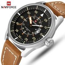 NAVIFORCE แบรนด์สุดหรูกีฬานาฬิกาผู้ชายแฟชั่น Quartz วันที่นาฬิกาชายกันน้ำกองทัพทหารนาฬิกา Relogio masculino