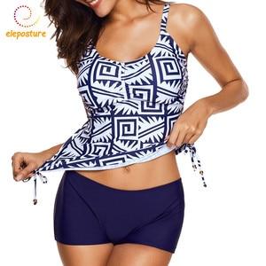 Image 2 - 2020 New Tankini Swimsuits Women Swimsuit High Waisted Bathing Suits Vintage Retro Swimwear Swimming Suit For Women Beachwear XL