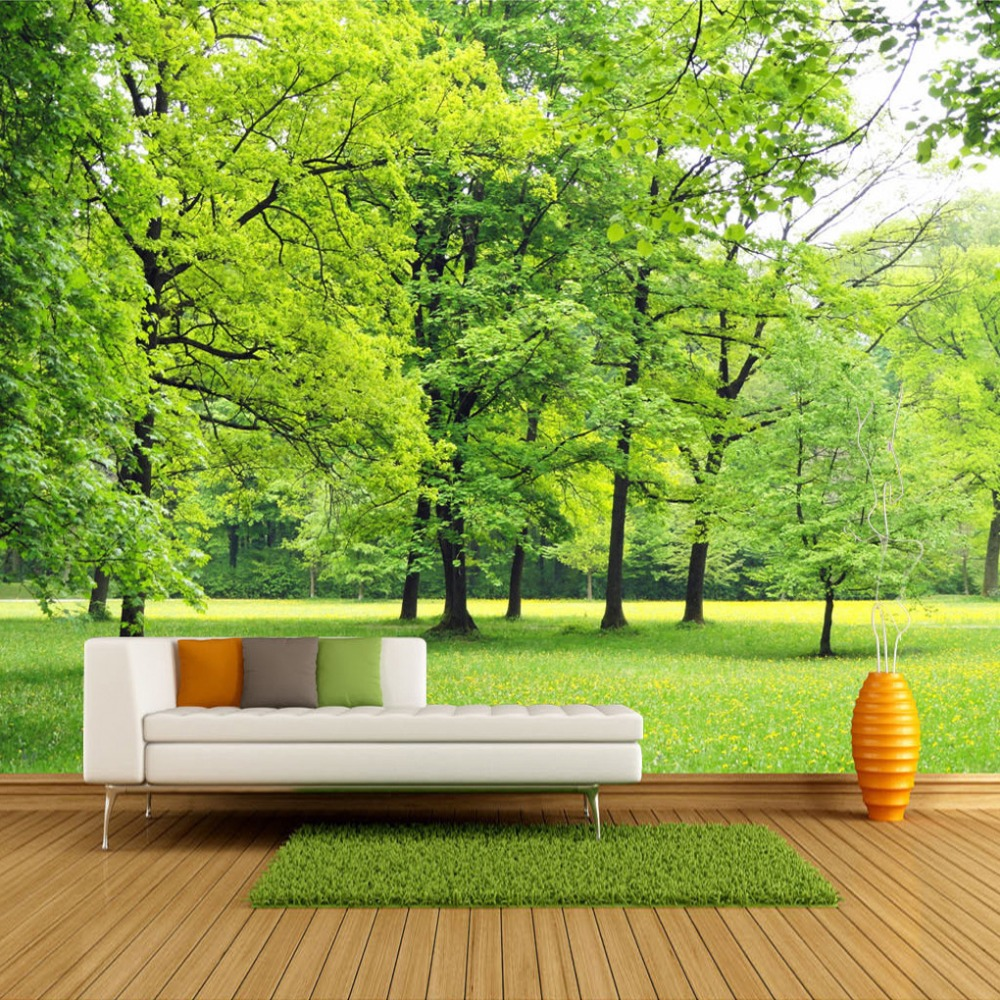 popular forest wall decor buy cheap forest wall decor lots from custom wall mural wallpaper green forest 3d photo background wall decorations living room sofa bed room