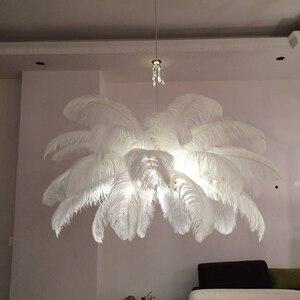Image 3 - Plafonnier en cuivre avec plume doiseau, nouveau design, design moderne, luminaire de plafond, idéal pour un salon ou une chambre à coucher, ac 110/220V