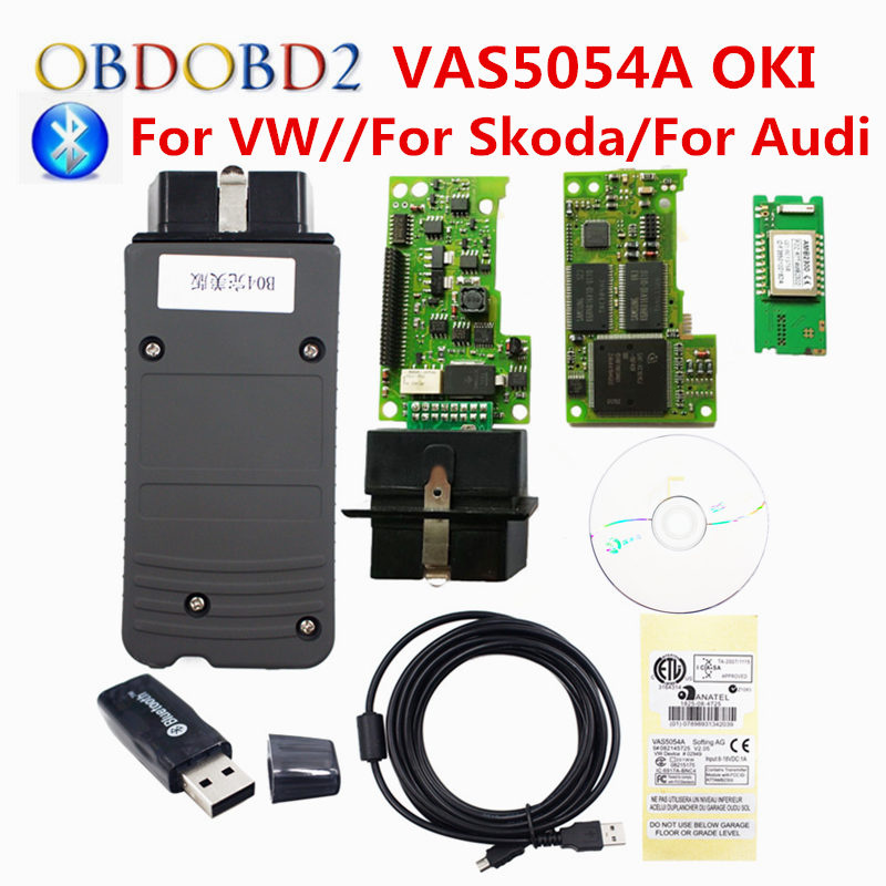 Best OKI Full Chip VAS5054A ODIS V4.4.1 Car Diagnostic Tool VAS 5054A Bluetooth USB OBDII Scanner VAS 5054 A VAG Scanner