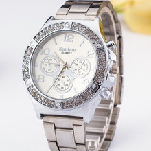 Hot sale Top Brand Luxury Stainless Steel Men Watch fashion casual women watch Three eyes Analog Watches Relogio Feminino стоимость