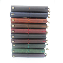 Vintage Traveler's Notebook Handmade Journal Genuine Leather Cowhide Diary