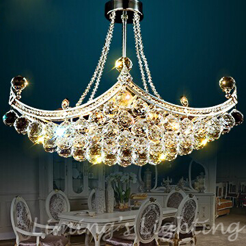 6 Bulbs European LED Candle Crystal Ceiling Chandelier Light Pendant Fixture Hanging Lusters Lighting Lamp E14 Bulb Dining Room