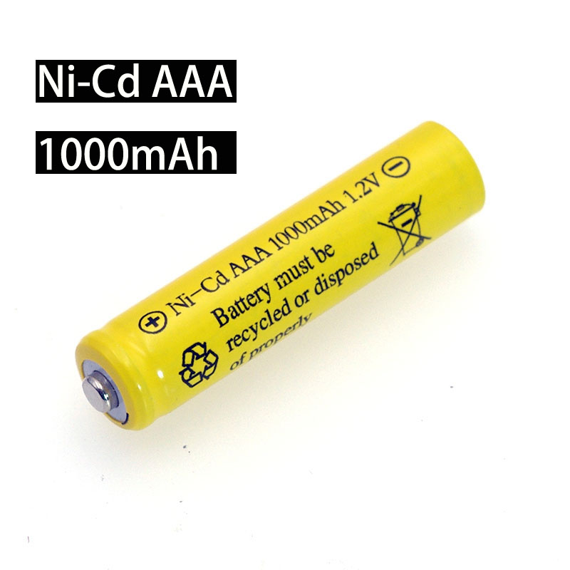 NI-CD AAA Batteries 1.2v Rechargeable Nicd Battery 1.2V Ni-Cd Aaa 1000mAh For Electric Remote Control Car Toy RC Ues