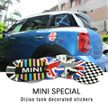 For Mini Cooper Fuel Tank Cap Cover Sticker Countryman Cabrio Works Coupe Paceman One Clubman R50 R52 R53 R55 R56 R60 F56