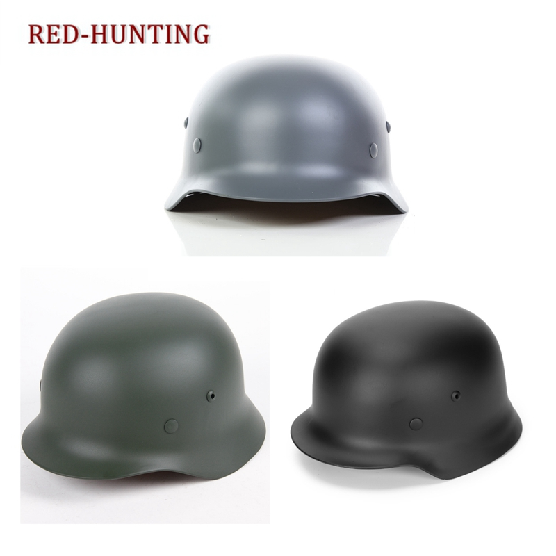 Steel Helmet Safety-Equipment German Special-Force Military Black Tactical Green Grey title=