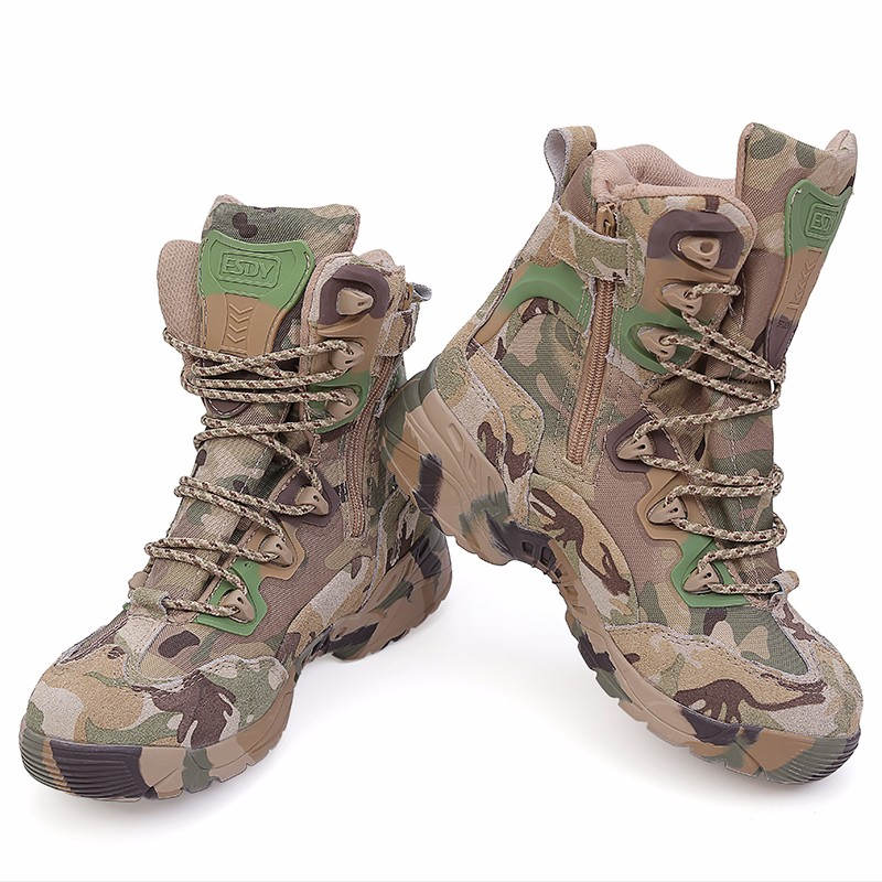 ФОТО ESDY 6.0 army tactical military sneakers desert cowhide Breathable boots Delta commandos camouflage black outdoor hiking shoes