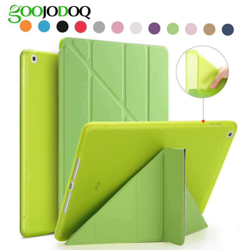 Voor iPad 9.7 2018 Case iPad 6th generatie Cover PU Leather Silicone Soft Back A1822 A1893 Funda voor iPad 2018 case 2017 9.7