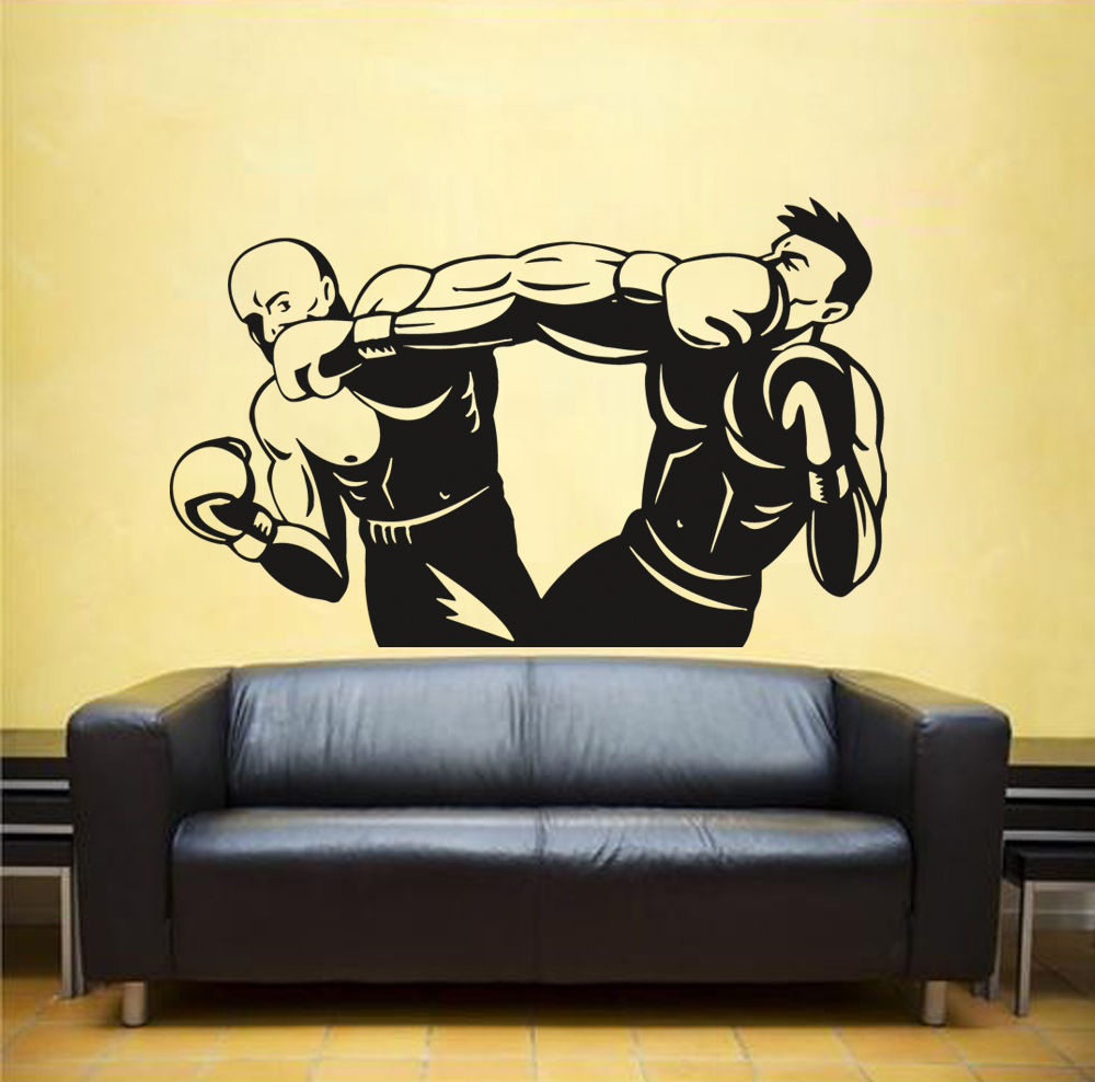Aliexpress.com : Buy Wall Decal Sticker kick boxing ring Gloves ...