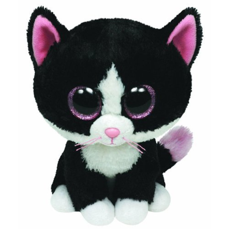 Ty Beanie Boos 6 15cm Black White Cat Plush Beanie Babies Stuffed
