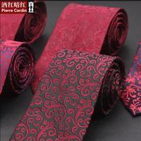 Men Gift Box Leisure 8 CM Red Tie Wedding Floral Neck Tie Groomsmen Gifts 10 Colour