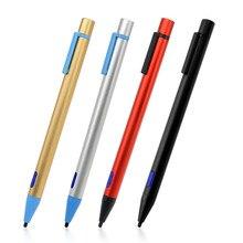 2.0 мм СИБ Универсальный Активный Стилусы ручка с зарядка через USB Провода Экран стилус для iPhone iPad Samsung Планшеты PC