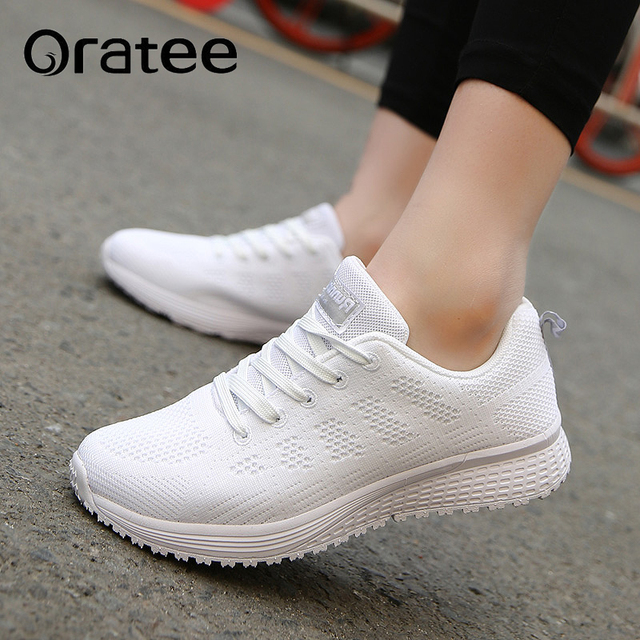 9fefe6877831 Fashion Women Shoes Breathable Air Mesh Trainers New Spring New Low Toe  Casual Shoes Striped Lace Up Women Shoes