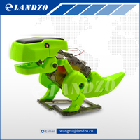 4 In 1 DIY Educational Solar Powered Robot Kit Changeable Science Toys For Children Dinosaur Insect