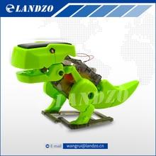 4 в 1 DIY Образования Солнечной Powered Робот Комплект Сменных Науки Игрушки для Детей Динозавр Насекомых Творческий Электрические Игрушки Подарки