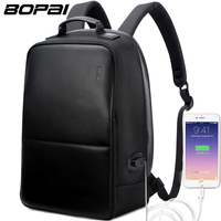 BOPAI Brand Backpack USB External Charge Computer Bag Shoulders Anti Theft Backpack 15 Inch Waterproof Laptop