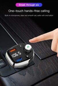 T62 двойной USB автомобильный Быстрый MP3 беспроводной Bluetooth Автомобильный MP3 плеер fm-передатчик громкой связи Поддержка звонков TF