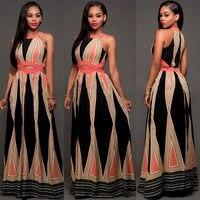 Gogoboi Women Elegant Backless Floral Print Maxi Long Dress Online Shopping Vestido De Festa Bodycon Party