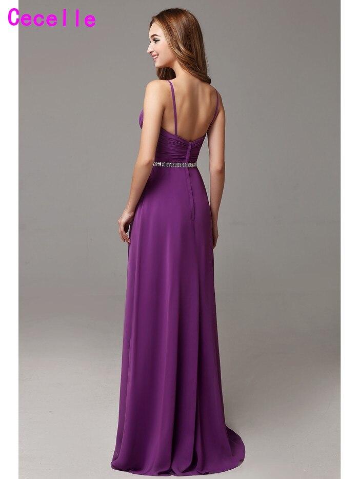 Aliexpress.com : Buy 2017 Sexy Purple Long Bridesmaid Dresses Floor ...