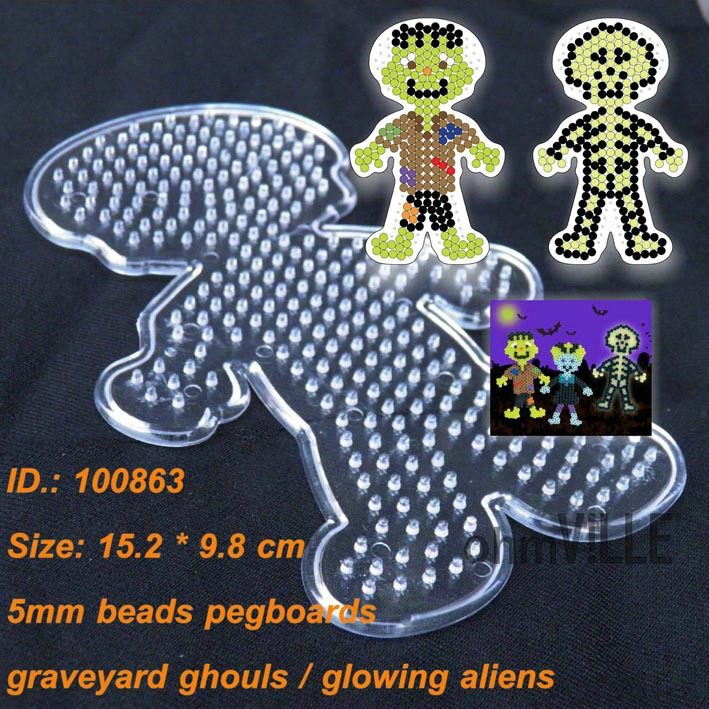 Home & Garden 100863 Graveyard Ghouls Pegboards For 5mm Perler Hama Beads Fused Beads Patterns ~ Clear Fish Peg Board Free Shipping To Reduce Body Weight And Prolong Life Party Diy Decorations