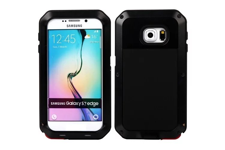 Luxury Camouflage Metal Armor Life Waterproof Shockproof Aluminum+ Silicone Protective Case For Samsung S6 S7 Edge Plus Note 5 4 image