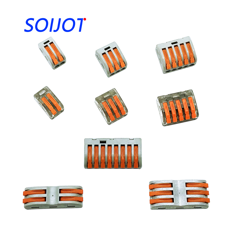 Free Shipping (30-100pcs/lot) 222 WAGO mini fast wire Connectors,Universal Compact Wiring Connector,push-in Terminal Block 100pcs lot original in stock 100piece lot mje15032g mje15032 15032g to220 free shipping