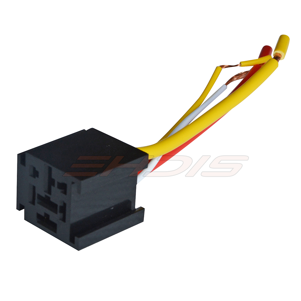 2pcs Car Auto 4 Pin 80a 12v 24v Terminal Relay Socket Harness Wiring Plastic Wire For Vehicle In Cables Adapters Sockets From