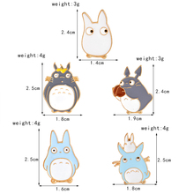 Set of 5 Totoro Brooches