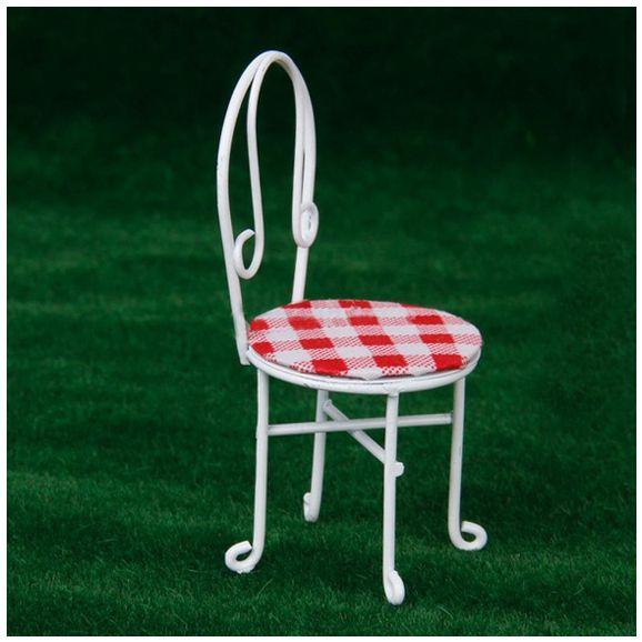 Metall In Puppenhaus Abdeckung Draht Und Stühle Weiß Miniatur Verkauf Möbel 112 4 Us10 Tisch Heißer 75heißer Kariertem 4RL5Aj