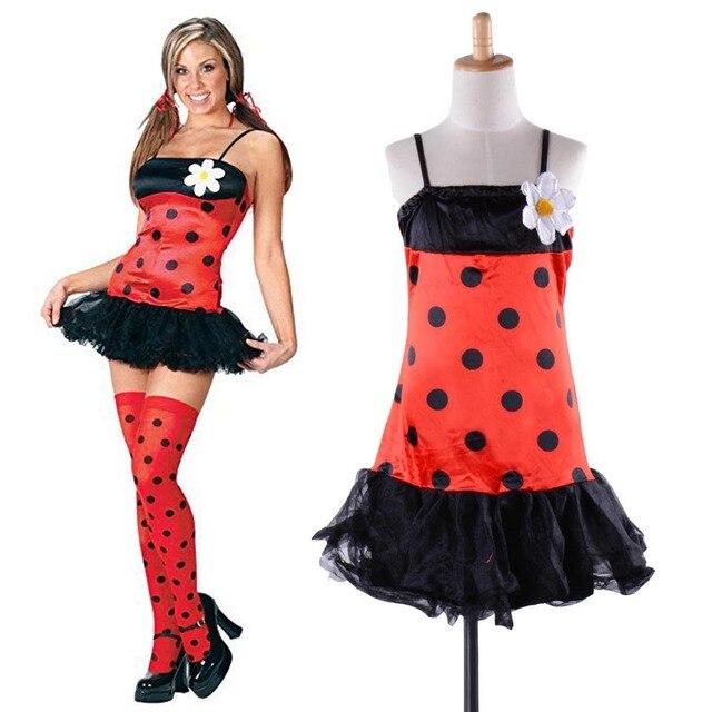 1536832712548c Urocza biedronka kostium dla dzieci dla dorosłych kobiet chrząszcz biedronka  Fancy Dress kostium Fancy Dress Sexy